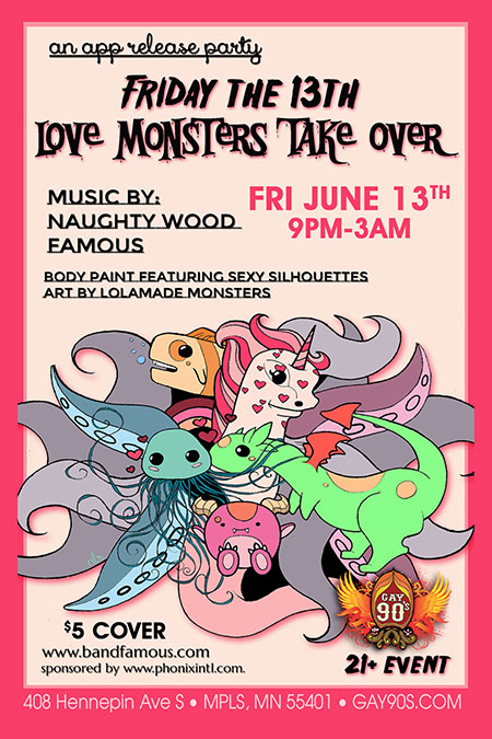 Famous Debut Love Monsters - Party Coming Soon