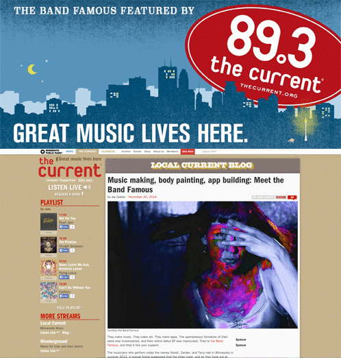 The Band Famous Featured by Minnesota Public Radio and 89.3FM The Current - Phonix Intl