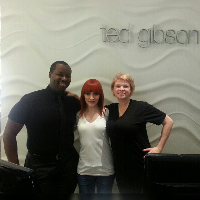 Norell modeled for celebrity hair stylist Ted Gibson in NYC January 2015