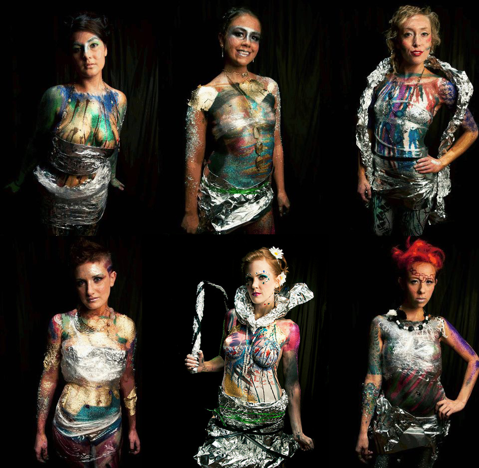Photo of X Fashion Show Art Models. Body Painting by Zander. Photography by Oliver Kriston - Phonix Intl