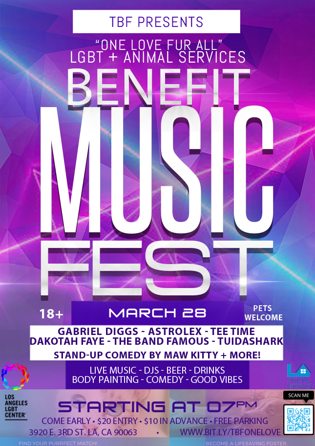 Get your tickets if you wish to donate to our Party for a Purpose - or learn more about the benefit music festival we will be live streaming this March!